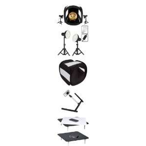 Professional Photo Box Studio Lights Kit for Jewelry Camera & Photo
