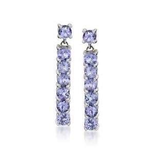 .90 ct. t.w. Tanzanite Dangle Earrings In 14kt White Gold