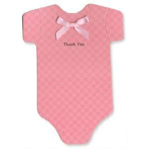 Onesie Thank you Cards   Bright Pink   Baby Girl Office