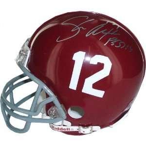 Alabama Crimson Tide Autographed Mini Helmet