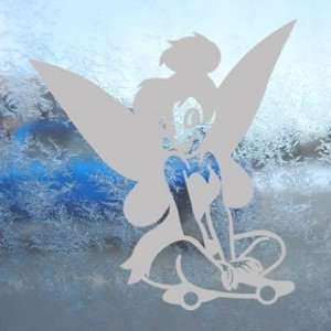 Peter Pan Gray Decal Tinkerbell Fairy Truck Window Gray