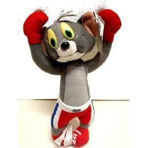 Tom and Jerry Cartoon, Tom in Boxing Plush Doll 7 inches   Cute plush