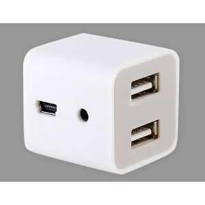 4 Ports Mini USB HUB (White)
