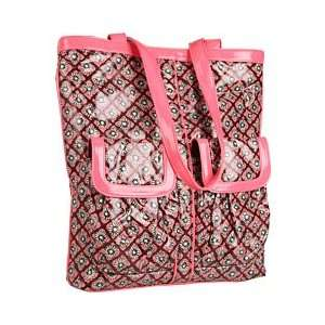 Vera Bradley Frill Teen Idol Tote Bag in Mocha Rouge