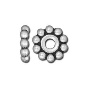 10mm Antique Silver Beaded Large Hole Spacer by TierraCast
