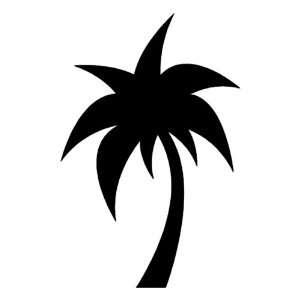 Palm Tree BLACK vinyl window decal sticker