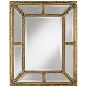 Glass and Gold Border Small 35 High Wall Mirror