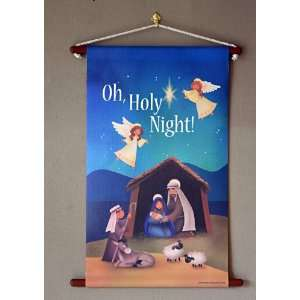 Nativity scene Christmas canvas wall hanging