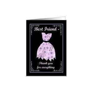 BEST FRIEND   Wedding Thank You Card Health & Personal
