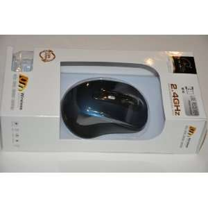 Blue Wireless Optical Mouse 2.4 Ghz High Quality