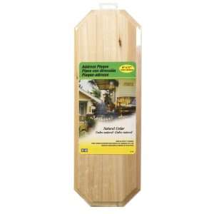 4 each: Hy Ko Cedar Address Plaque (AK 300): Home