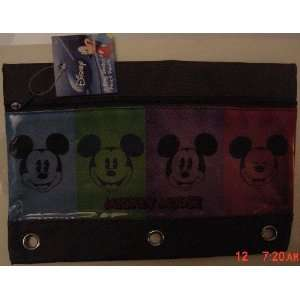 Disney Mickey Mouse 3 Ring Binder Pencil Pouch