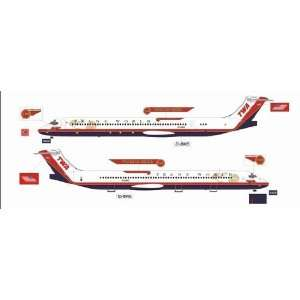 Jet X TWA MD 80 Wings of Pride Model Airplane Everything