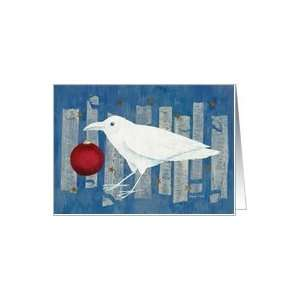 White Crow Holiday Card