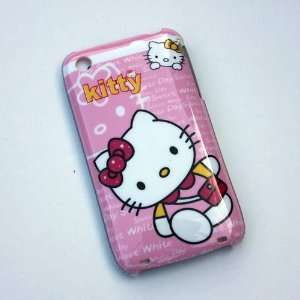 Hello Kitty Pink Walking Back Hard Case Cover for Iphone