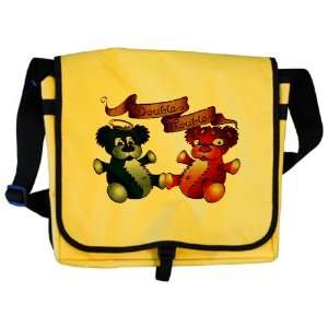 Messenger Bag Double Trouble Bears Angel and Devil Everything Else