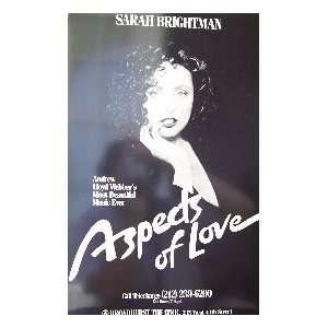 ASPECTS OF LOVE   SARAH BRIGHTMAN (ORIGINAL BROADWAY THEATRE WINDOW