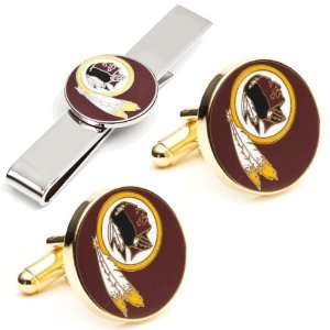 Washington Redskins NFL Football Cufflinks with Matching Tie