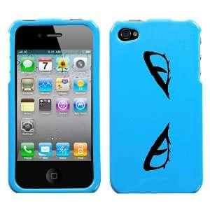 black snake eyes design on sky blue turquoise phone case for apple
