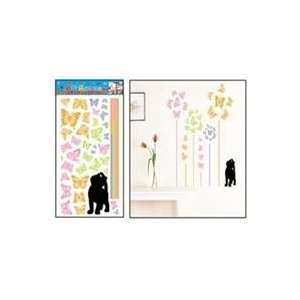 Cats with Butterflies Tree Wall Stickers Decals