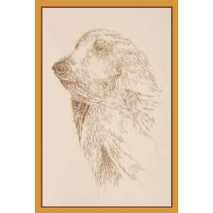 Afghan Hound Dog Art Signed and Numbered Lithograph Print