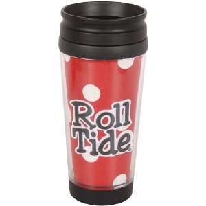 NCAA Alabama Crimson Tide 16oz. Polka Dot Travel Tumbler   Crimson