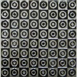 Silver Black Circle Decorative Porcelain Art Wall Tile