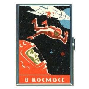 Russia 1960s Retro Cosmonaut ID Holder, Cigarette Case or Wallet MADE