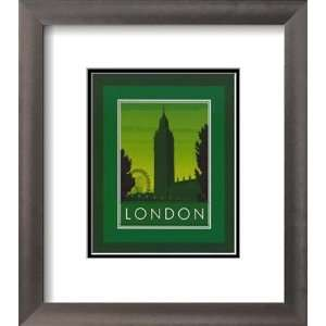 Big Ben in London, England Lit up at Night Places Framed