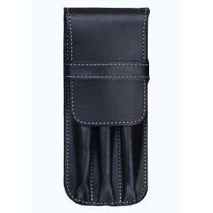 Fountain Pen International USA Triple Black Leather 3 Pen