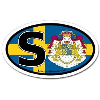 in Swedish and Swedish Flag Car Bumper Sticker Decal Oval Automotive