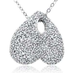 Sunshine charm pendant with pave round diamonds set in 18K white gold