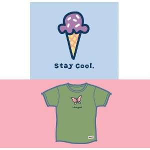 LIFE IS GOOD STAY COOL S/S CRUSHER TEE   GIRLS Sports