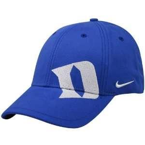 Nike Duke Blue Devils Royal Blue On Point Swoosh Flex Fit Hat
