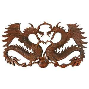 Wall Deco~Wood Carving~Dragon Sculpture~Bali Best Art