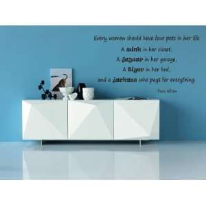 Every Woman Should Have Four Pets In Her Life Vinyl Wall Decal Home