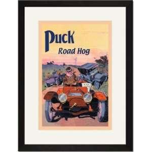 Black Framed/Matted Print 17x23, Puck   Road Hog