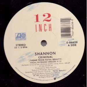Criminal (Theme from Fatal Beauty) Shannon Music