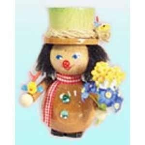 Steinbach Flower Boy w/ Birds Wood Ornament
