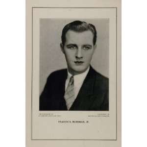 1927 Silent Film Star Francis X. Bushman, Jr. MGM Print