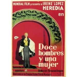 Doce Hombres y Una Mujer Movie Poster (11 x 17 Inches   28cm x 44cm