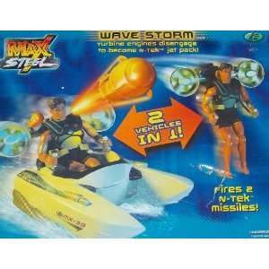 Max Steel 2 in 1 Vehicle   Wavestorm (2001) Toys & Games