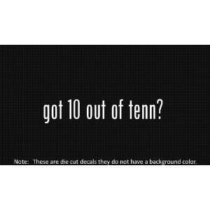(2x) Got 10 Out of Tenn   Sticker   Decal   Die Cut