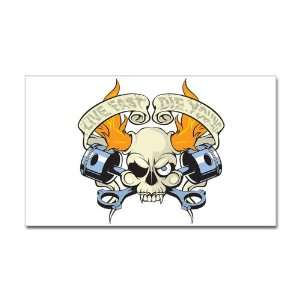 Sticker (Rectangle) Live Fast Die Young Skull
