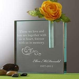 Personalized Memorial Bud Vase   Loving Memory   10780