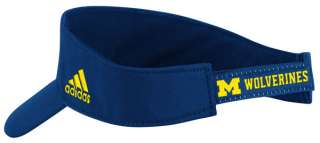 Wolverines adidas Navy Football Player Adjustable Visor