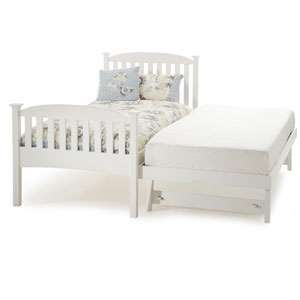 Serene, Eleanor 3FT Wooden Guest Bed   White