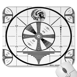 Indian Head Test Pattern Mousepad by turboff
