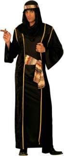 Arab Sheik Costume   Black 4404BLACK   Ace Fancy Dress