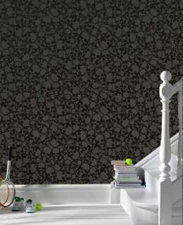 19911 Barbara Hulanicki Skulls Black Motif Wallpaper